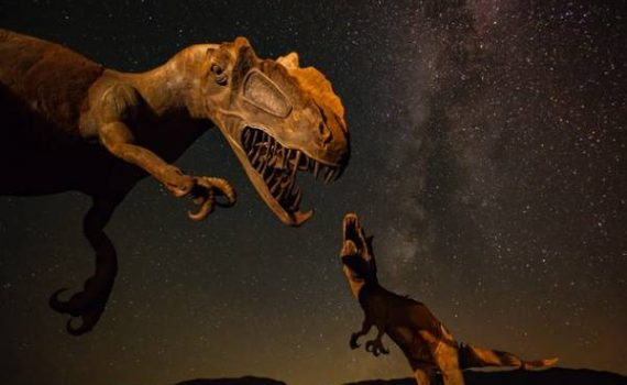 New research reveals that dinosaurs were struggling to survive long before the K-T extinction event (asteroid strike).